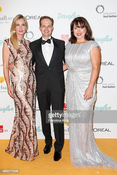 Jette Joop Manfred Kroneder and Ruth Neri attend the Dreamball 2014 at the Ritz Carlton on September 11 2014 in Berlin Germany
