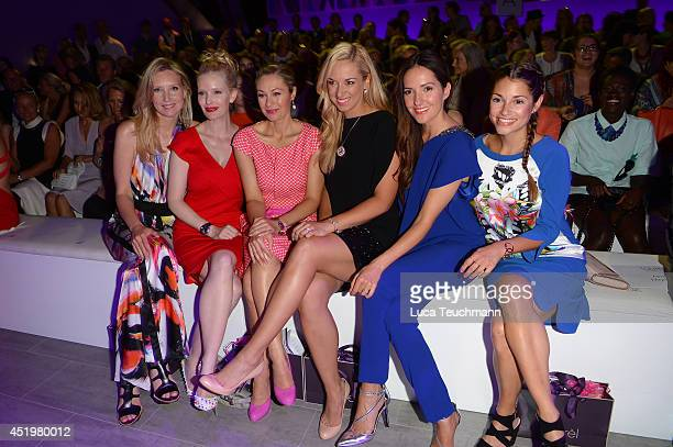 Jette Joop Mirja du Mont Ruth Moschner Sabine Lisicki Johanna Klum and Lisa Tomaschewsky attends the Laurel show during the MercedesBenz Fashion Week...