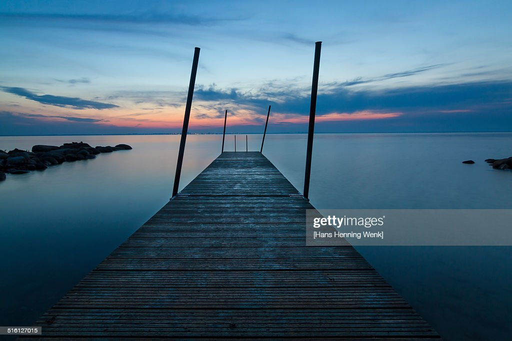Jetty after sunset