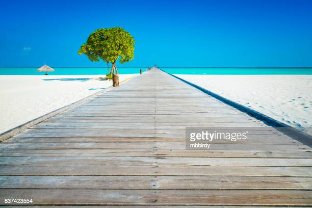 Jetty at Dhiffushi Holiday island, South Ari atoll, Maldives