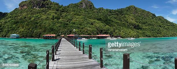Jetty at Sabah Island, Malaysia