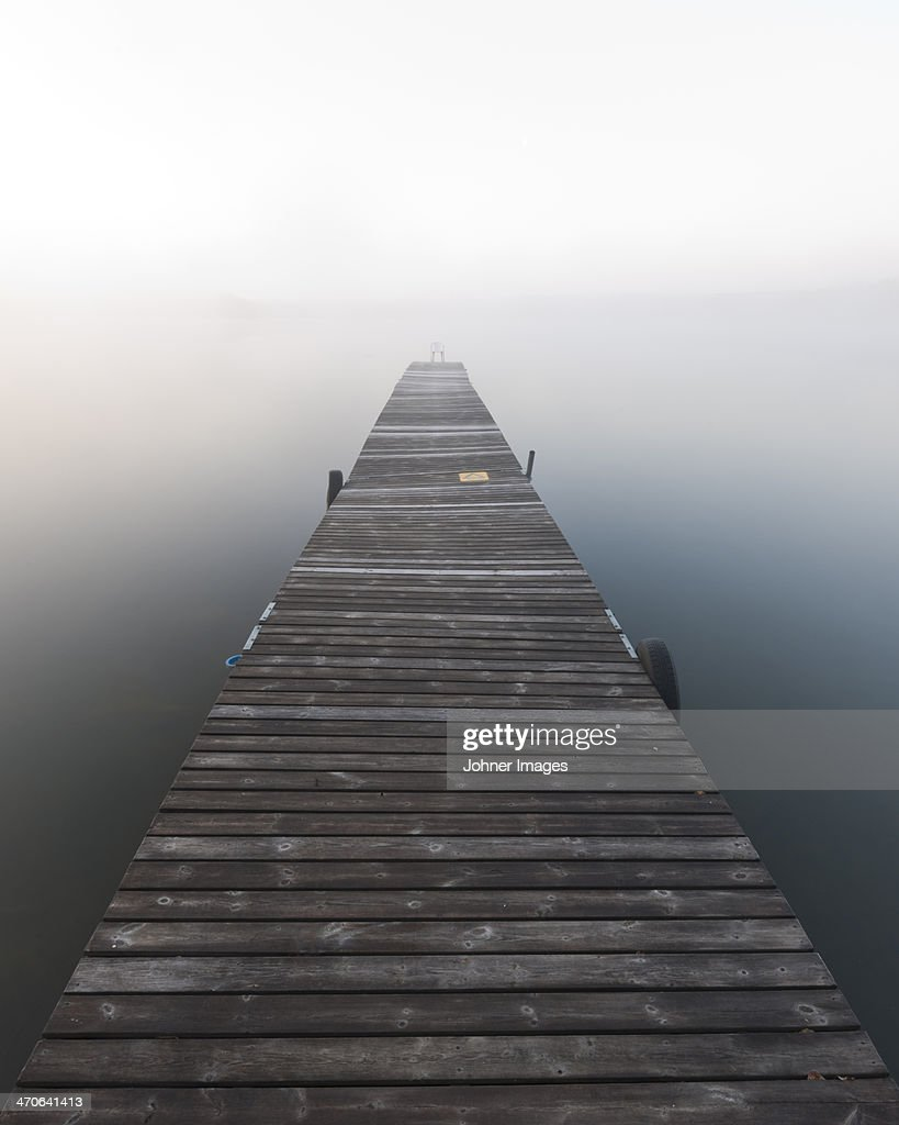 Jetty in fog