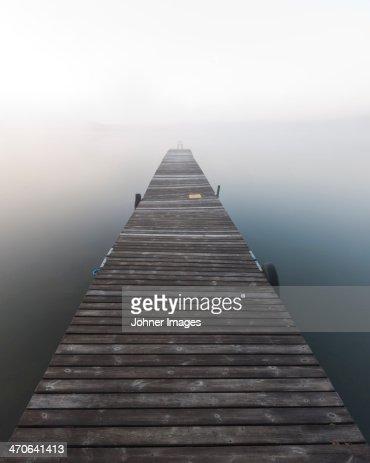 Jetty in fog