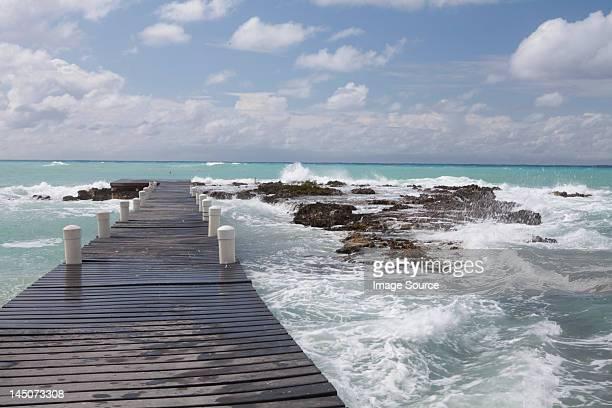 Jetty into Caribbean Sea, Grand Cayman, Cayman Islands