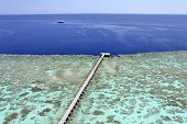 Jetty on a coral reef Sanganeb, Sudan