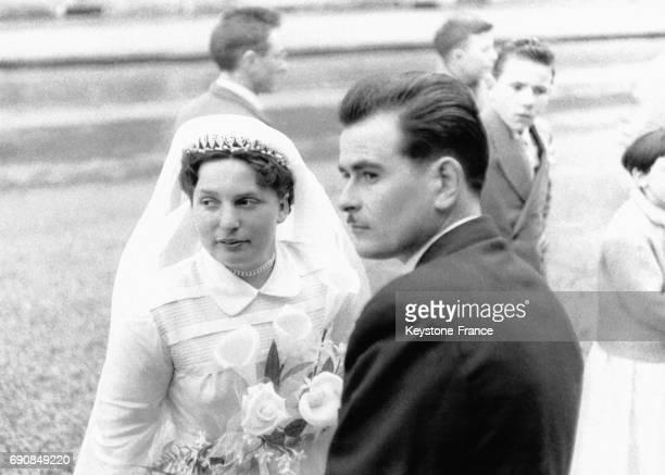 Jeunes mariés en Normandie France en 1955
