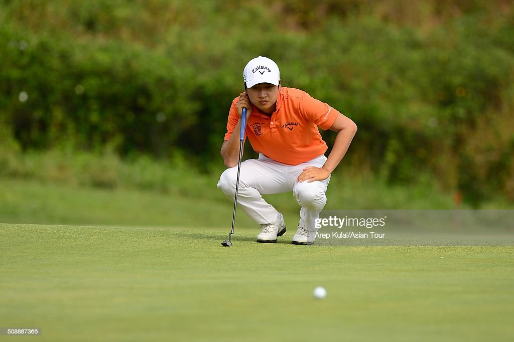 Jeunghun Wang of Korea pictured during the final round of the Leopalace21 Myanmar Open at Royal Mingalardon Golf and Country Club on February 7, 2016 in Yangon, Myanmar.
