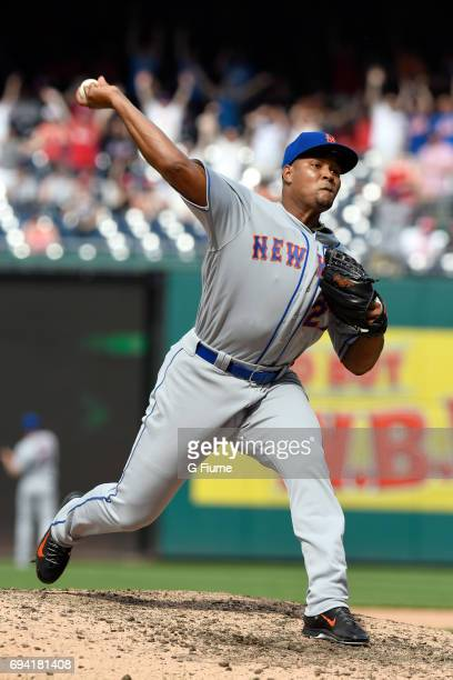 Jeurys Familia of the New York Mets pitches against the Washington Nationals at Nationals Park on April 29 2017 in Washington DC