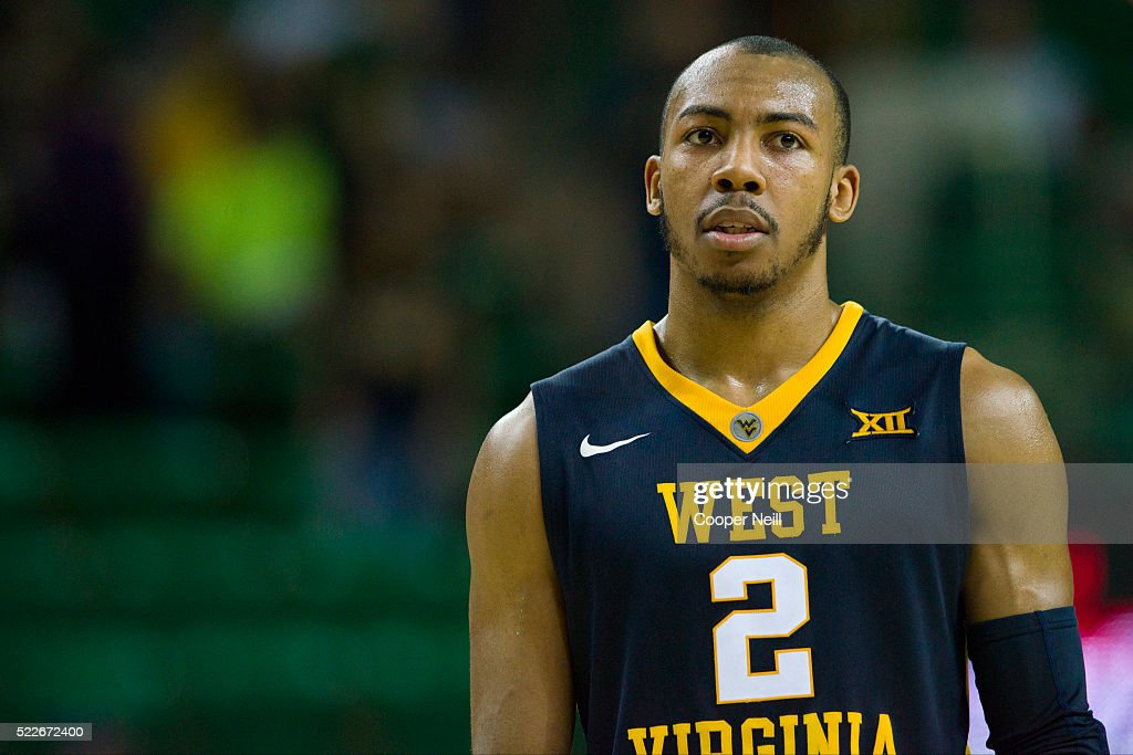 Jevon Carter of the West Virginia Mountaineers looks on against the Baylor Bears on March 5 2016 at the Ferrell Center in Waco Texas