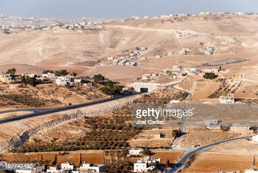 Jew and Arab in West Bank landscape