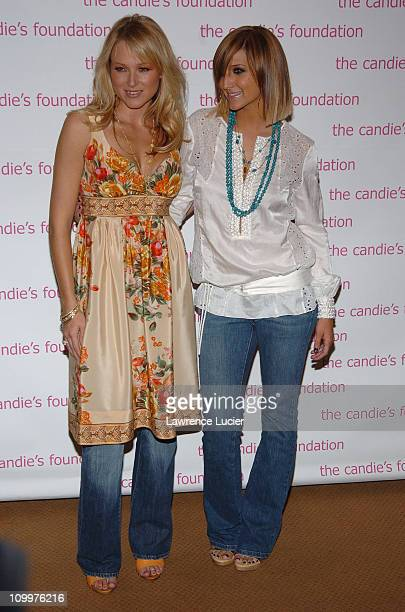 Jewel and Ashlee Simpson during The Event To Prevent A Benefit for the Candie's Foundation for the Prevention of Teenage Pregnancy at Gotham Hall in...