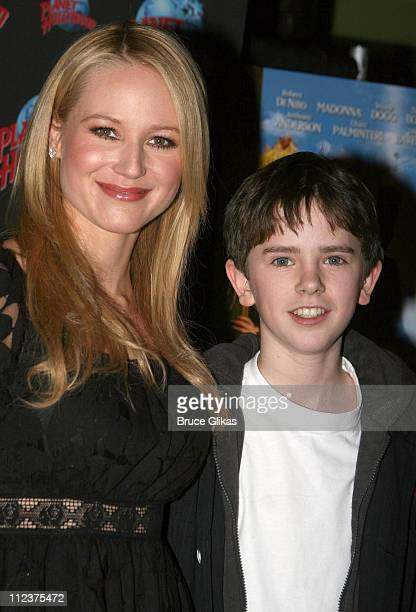 Jewel and Freddie Highmore during Jewel and Freddie Highmore Visit Planet Hollywood January 6 2007 at Planet Hollywood in New York City New York...