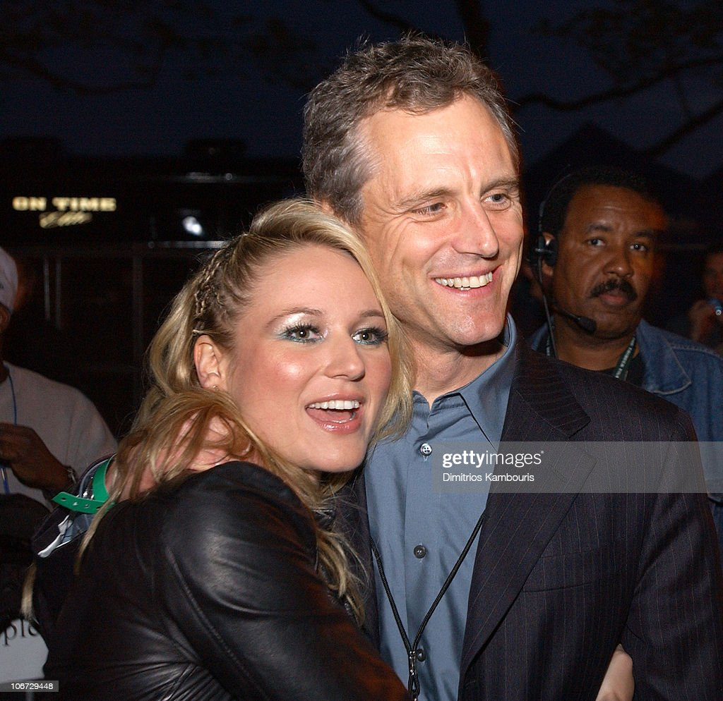 Jewel and John Sykes during MTV and VH1 Present '100% NYC A Concert Celebrating The Tribeca Film Festival' Backstage at Battery Park City in New York...
