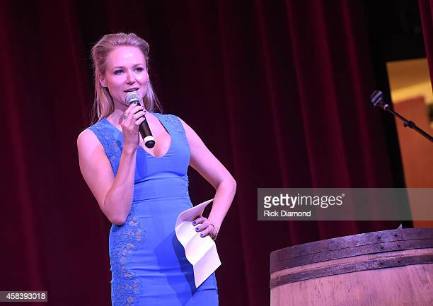 Jewel speaks at the CMT Next Women Of Country at City Winery Nashville on November 4 2014 in Nashville Tennessee