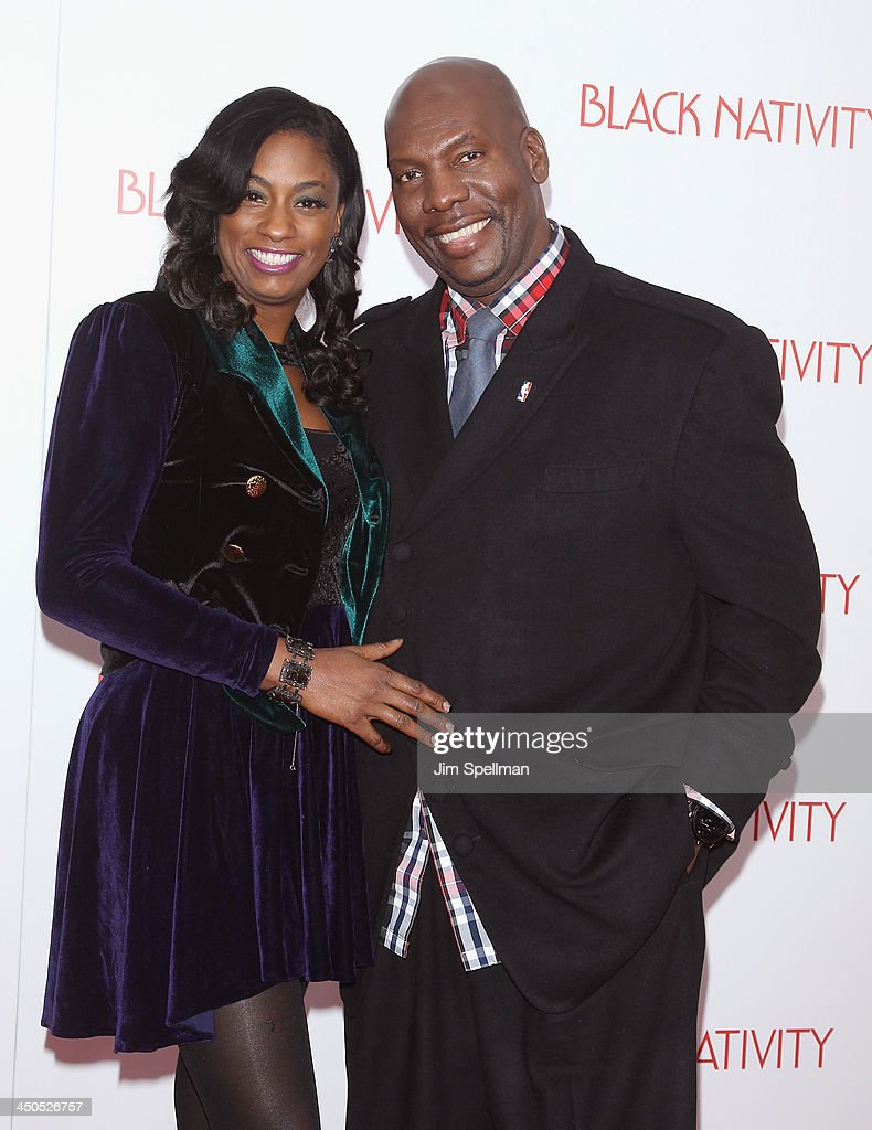 Jewel Tankard and Ben Tankard attend the 'Black Nativity' premiere at The Apollo Theater on November 18, 2013 in New York City.