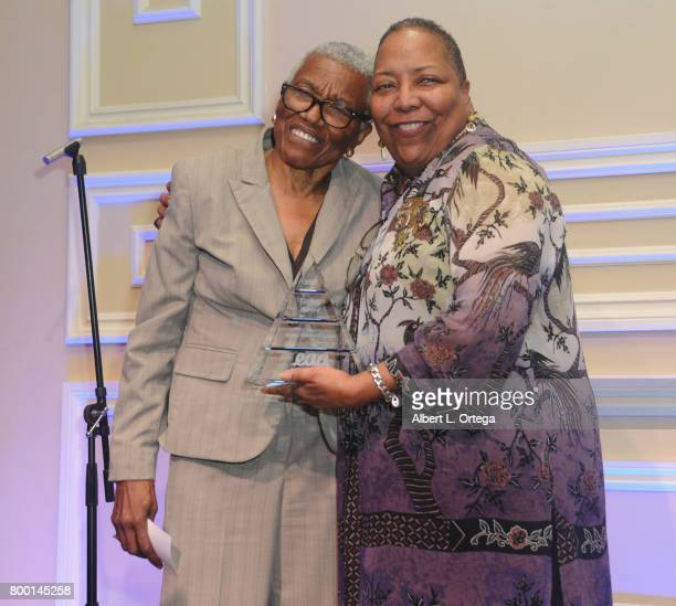 Jewel ThaisWilliams and Vallery Kountzet at the Entertainment AIDS Alliance's Annual EAA Wine Wisdom Vision Event Benefiting Village Health...