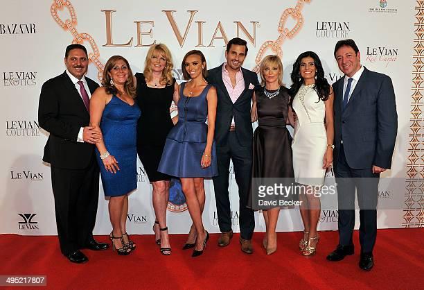 Jeweler Moosa LeVian Elizabeth LeVian model Cheryl Tiegs television personality Giuliana Rancic Bill Rancic Harper's Bazaar Executive Beauty and...
