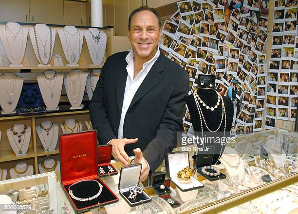Jeweler Neil Lane displays a 50carat necklace worth $50000000 along with several million dollars of jewels that he will loan to celebrities to wear...