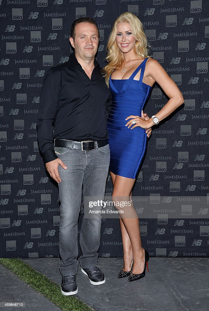 Jeweler <a gi-track='captionPersonalityLinkClicked' href=/galleries/search?phrase=Pascal+Mouawad&family=editorial&specificpeople=2532368 ng-click='$event.stopPropagation()'>Pascal Mouawad</a> (L) and 2014 Playmate of the Year <a gi-track='captionPersonalityLinkClicked' href=/galleries/search?phrase=Kennedy+Summers&family=editorial&specificpeople=12345410 ng-click='$event.stopPropagation()'>Kennedy Summers</a> arrive at a dance party with New Balance and James Jeans powered by ISKO at a private residence on August 19, 2014 in Beverly Hills, California.