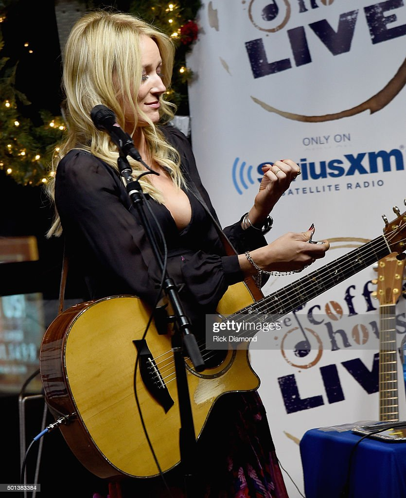 Jewell borrows a finger nail clipper from audience member while performing at 'Let It Snow' SiriusXM Acoustic Christmas With Jewel And Shawn Mullins...