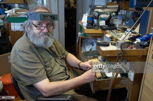 Jeweller at workstation