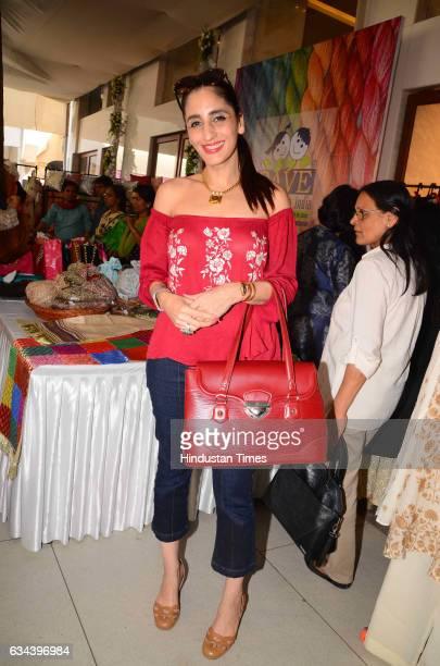 Jewellery designer Farah Khan Ali during a Charity exhibition Araaish organised by Mana Shetty wife of actor Suniel Shetty at Blue Sea Worli on...