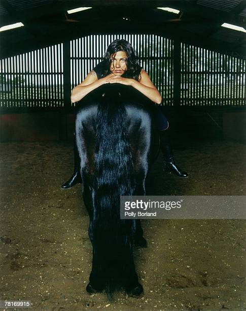 Jewellery designer Sarah Harmarnee poses for a portrait shoot in London 2nd October 2001