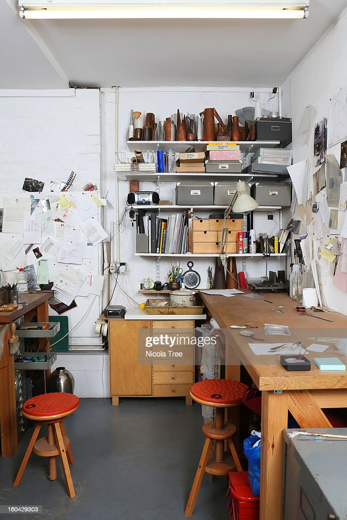 A Jewellery workshop. : Stock Photo