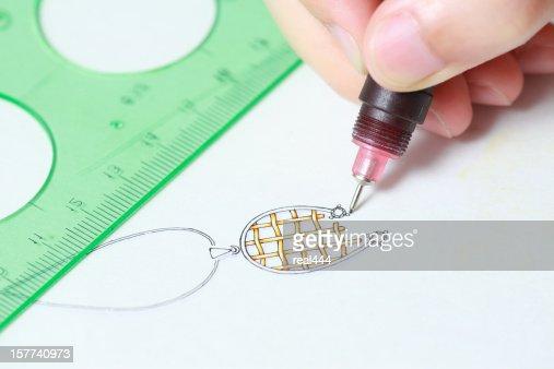Jewelry design : Stock Photo