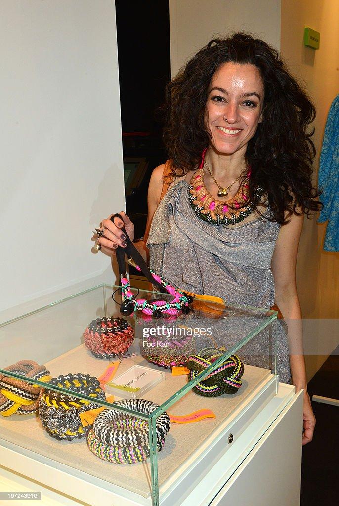 Jewelry designer Claudia Savelli attends 'Le Bresil Rive Gauche' Exhibition At Le Bon Marche on April 22, 2013 in Paris, France.