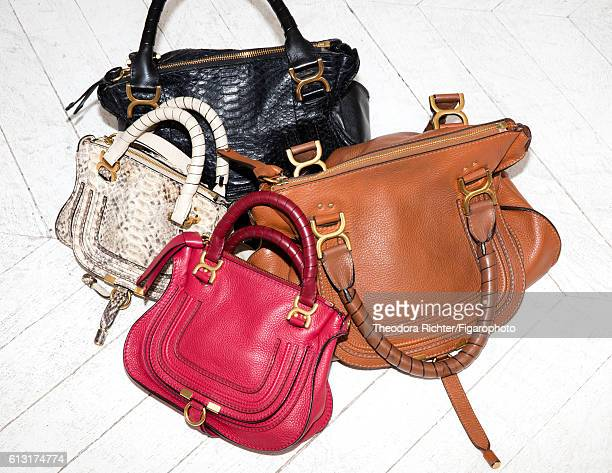 Jewelry designer Emanuelle Zysman's bags are photographed for Madame Figaro on June 1 2016 in Paris France PUBLISHED IMAGE CREDIT MUST READ Theodora...