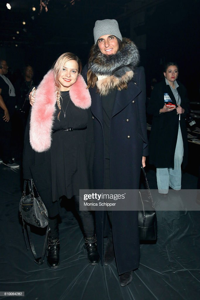 Jewelry designer Eva Fehren and stylist Debra Watson attend the Baja East Fall 2016 fashion show during New York Fashion Week: The Shows at The Dock, Skylight at Moynihan Station on February 13, 2016 in New York City.