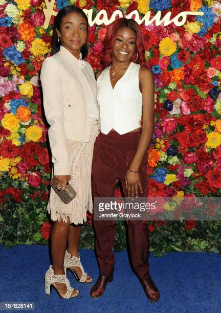 Jewelry designer Genevieve Jones and singer Azealia Banks attends the Ferragamo Celebrates The Launch Of L'Icona Highlighting The 35th Anniversary Of...