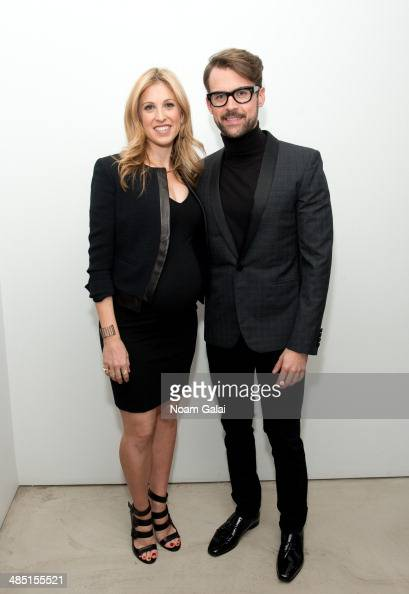Jewelry designer Jamie Wolf and TV personality Brad Goreski attend the Derek Lam Jamie Wolf Black And White Jewelry Launch on April 16 2014 in New...