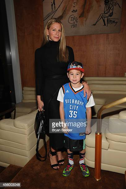 Jewelry designer Jennifer Fisher and son attend NBA 2K15 Launch Celebration at The Standard on September 23 2014 in New York City