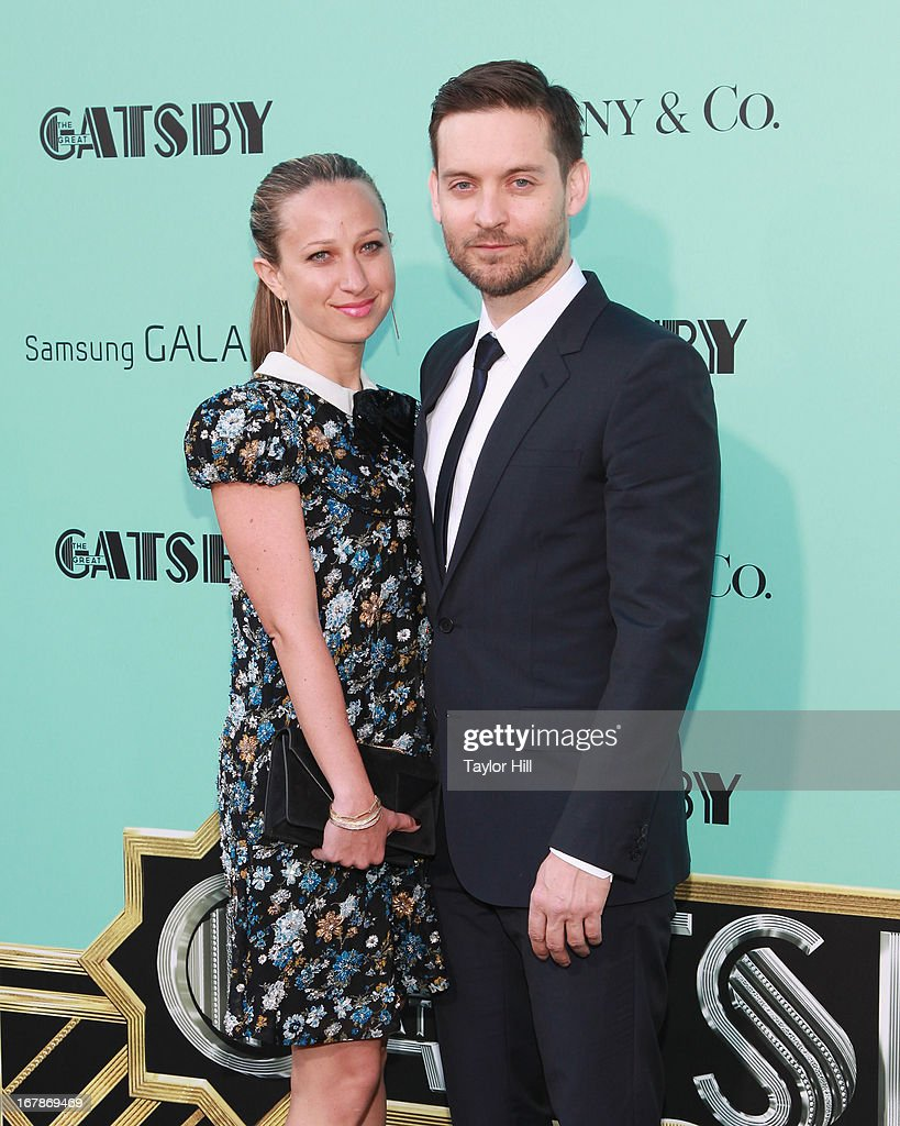 Jewelry designer Jennifer Meyer and actor <a gi-track='captionPersonalityLinkClicked' href=/galleries/search?phrase=Tobey+Maguire&family=editorial&specificpeople=203015 ng-click='$event.stopPropagation()'>Tobey Maguire</a> attend 'The Great Gatsby' world premiere at Alice Tully Hall at Lincoln Center on May 1, 2013 in New York City.