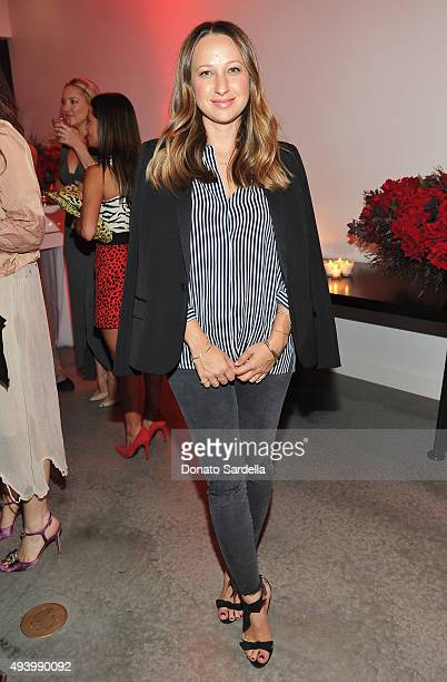 Jewelry designer Jennifer Meyer attends Brian Atwood's Celebration of PUMPED hosted by Melissa McCarthy and Eric Buterbaugh on October 23 2015 in Los...