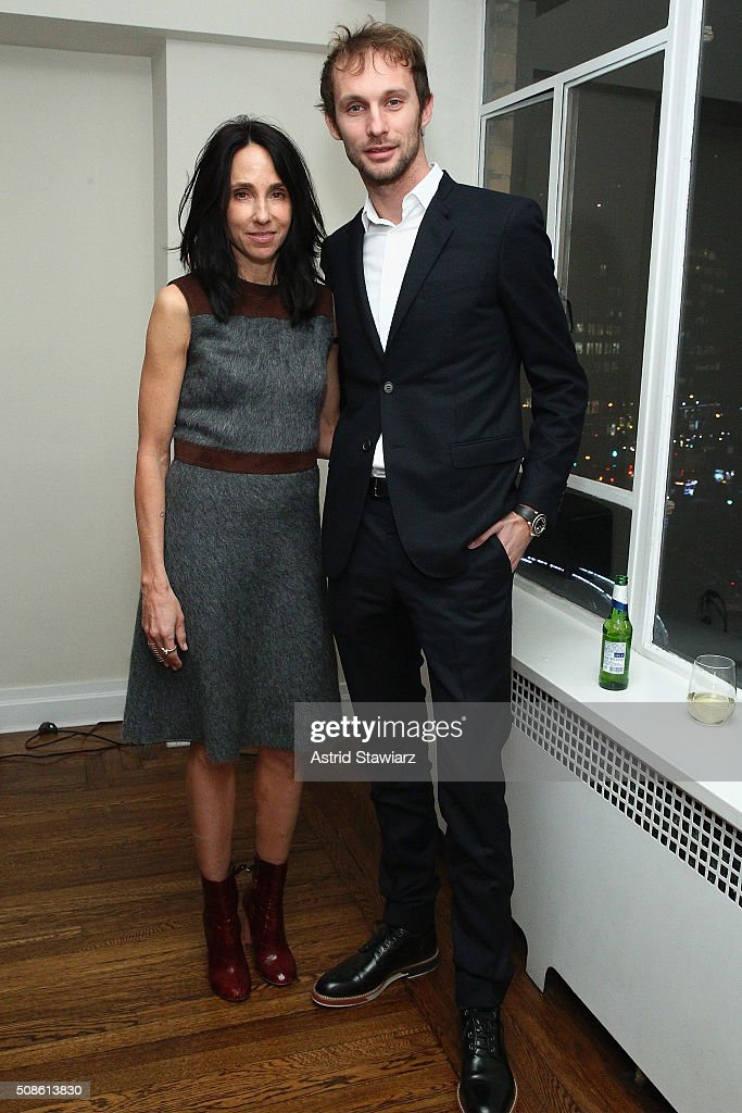 Jewelry designer Lepa Roskopp (L) and Ivan Bekovic attend an intimate evening of friends and colleagues at Mr. Colin Dougherty's New York City apartment on February 5, 2016 in New York City.