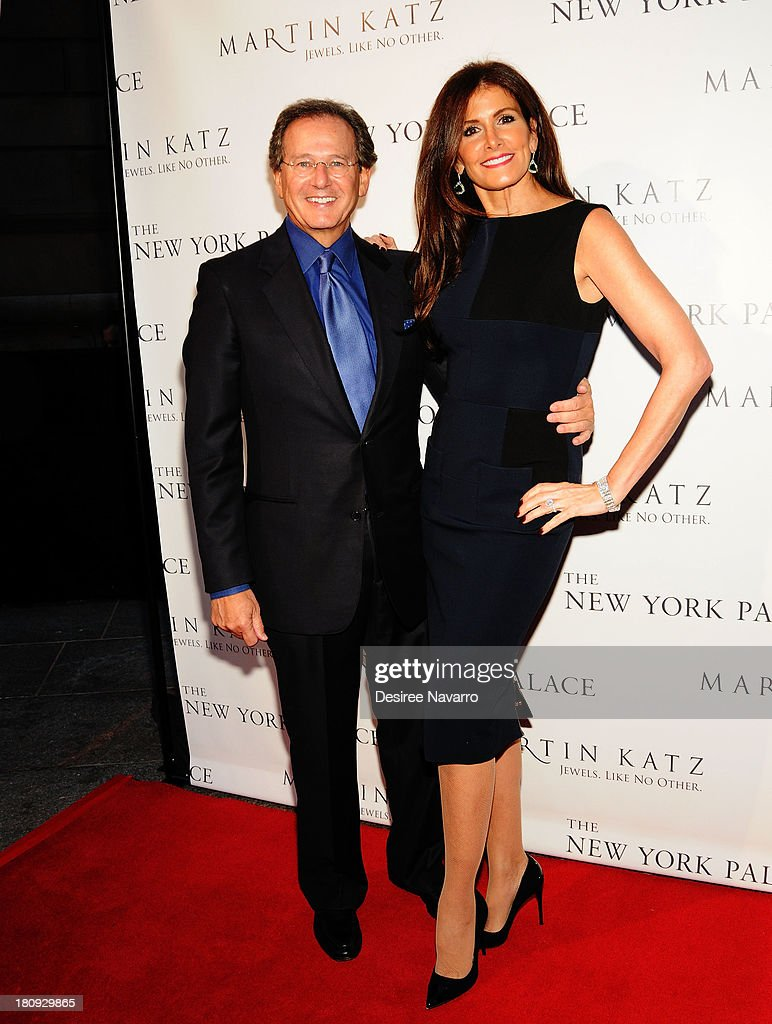Jewelry designer Martin Katz (L) and Kelly Katz attend The New York Palace's unveiling celebration at The New York Palace Hotel on September 17, 2013 in New York City.