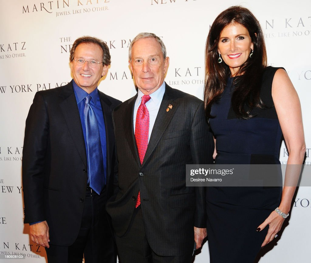 Jewelry designer Martin Katz, New York City Mayor <a gi-track='captionPersonalityLinkClicked' href=/galleries/search?phrase=Michael+Bloomberg&family=editorial&specificpeople=171685 ng-click='$event.stopPropagation()'>Michael Bloomberg</a> and Kelly Katz attend The New York Palace's unveiling celebration at The New York Palace Hotel on September 17, 2013 in New York City.