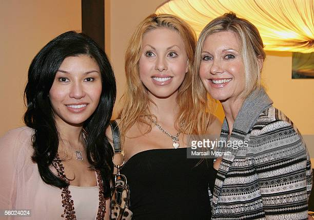 Jewelry Designer Mimi So Chloe NewtonJohn and actress Olivia NewtonJohn attend the Los Angeles Magazine's design house 2005 party The Green Home and...