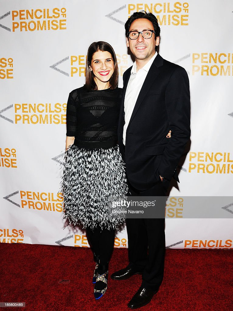 Jewelry designer Rachel Bravman Blumenthal and (R) Warby Parker Co-Founder Neil Blumenthal attend the 3rd annual Pencils of Promise Gala at Guastavino's on October 24, 2013 in New York City.