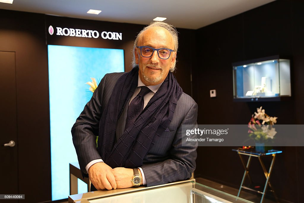 Jewelry designer Roberto Coin attends DuJour's Jason Binn, Roberto Coin and Peter Webster celebrate the Grand Opening of The Roberto Coin Flagship Store In Miami on February 10, 2016 in Miami, Florida.