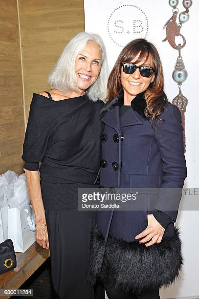 Jewelry designer Sabine Brouillet and guest attend Sabine Brouillet's jewelry pop up hosted by Nikita Kahn and Katya Teper at Nobu Malibu on December...