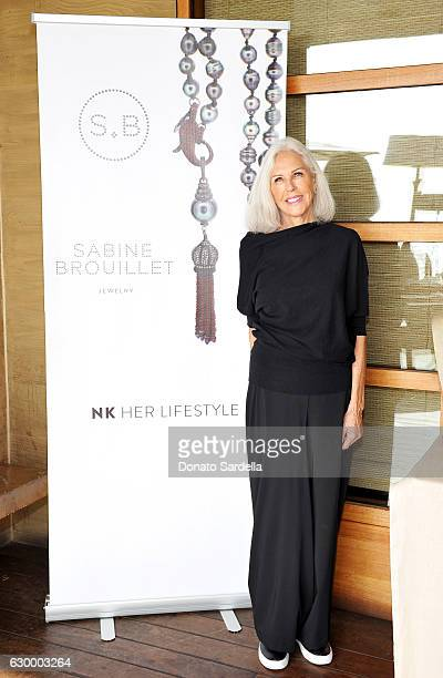 Jewelry designer Sabine Brouillet attends Sabine Brouillet's jewelry pop up hosted by Nikita Kahn and Katya Teper at Nobu Malibu on December 14 2016...