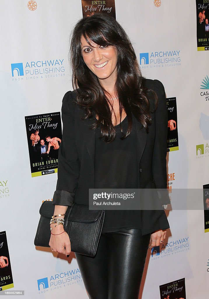 Jewelry Designer Shery Shabani attends the launch party for Brian Edwards' new book 'Enter Miss Thang' at Cafe Habana on October 21, 2013 in Malibu, California.