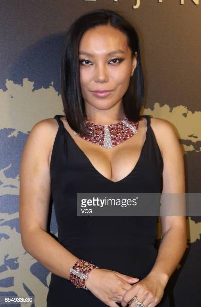 Jewelry designer Wan Baobao attends the opening ceremony of Bvlgari Hotel Beijing on September 27 2017 in Beijing China