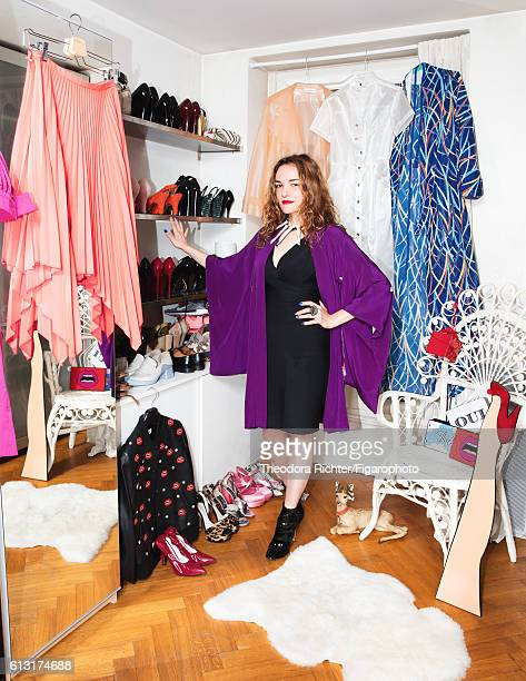 Jewelry designer Yaz Bukey is photographed for Madame Figaro on July 5 2016 in her closet in Paris France PUBLISHED IMAGE CREDIT MUST READ Theodora...