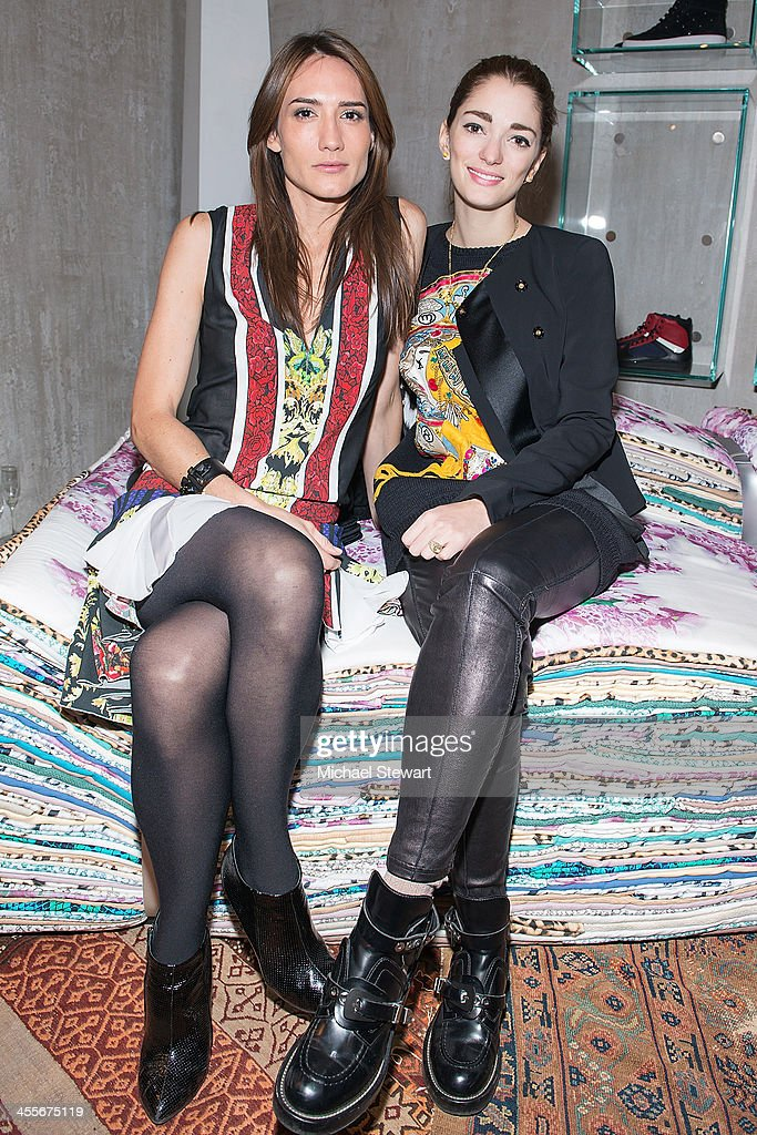 Jewelry designer Zani Gugelmann and Sofia Sanchez Barrenechea attend the Just Cavalli Soho Flagship store opening at Just Cavalli Soho on December 12...