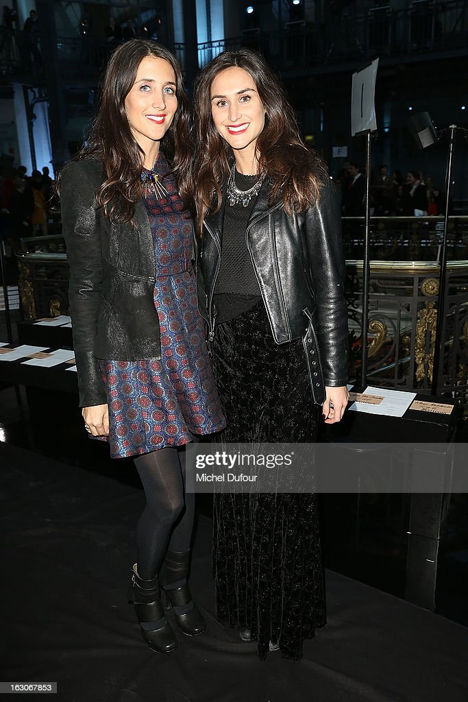 Jewelry designers Danielle Snyder and Jodie Snyder attend the John Galliano Fall/Winter 2013 Ready-to-Wear show as part of Paris Fashion Week at Le Centorial on March 3, 2013 in Paris, France.
